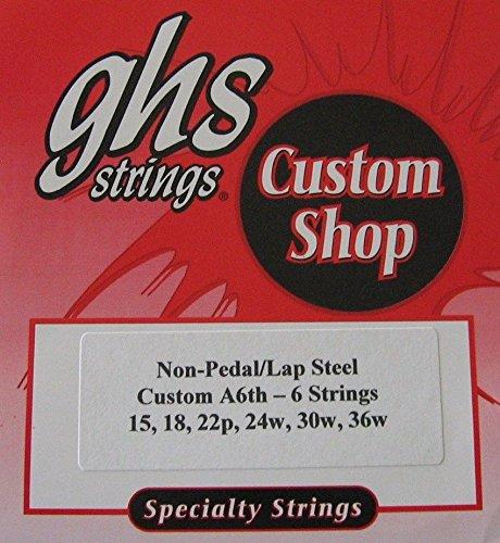 Lap Steel Guitar Strings GHS Custom 6 Strings A6 tuning - 15-36w gauges - 2 Sets by GHS custom Strings