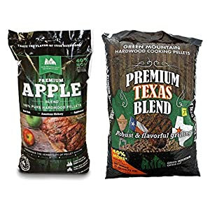 Green Mountain Grills Apple Hardwood Grilling Cooking Pellets & Texas Pellets by famous Green Mountain Grills
