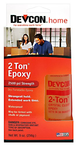 Devcon (33345-6PK) 2 Ton Clear Epoxy - 4.5 oz. 2 Part Bottle, (Pack of 6)