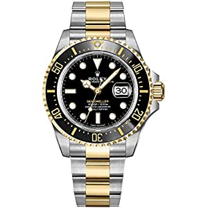 Best Epic Trends 51em-R187tL._SS300_ Rolex Sea-Dweller Solid 18k Yellow Gold and Oystersteel Men's Watch 126603
