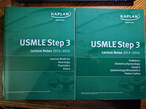 Kaplan USMLE Step 3 Lecture Notes 2015- 2016  Set (2 books) Authentic, USA Print