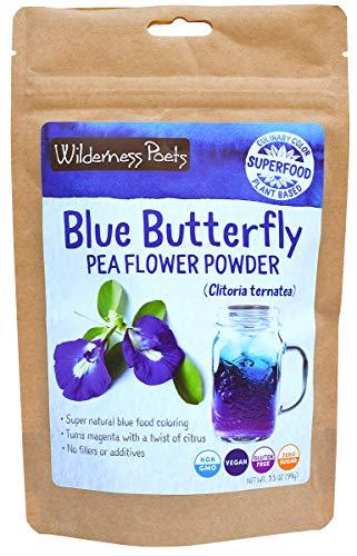 Wilderness Poets, Blue Butterfly Pea Flower Powder (3.5 Ounce)