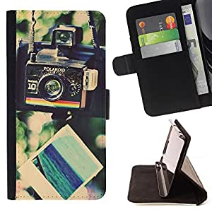 For Apple Iphone 5C Camera Hipster Vignette Retro Photo Style PU Leather Case Wallet Flip Stand Flap Closure Cover