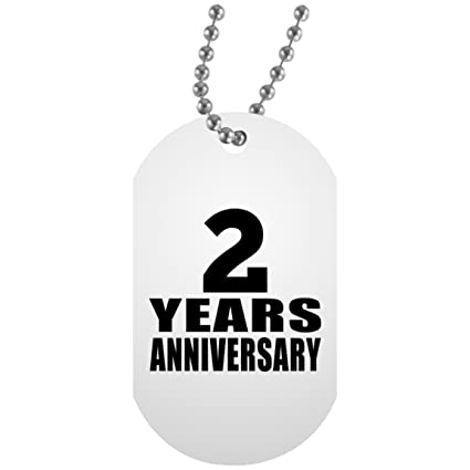 designsify anniversary best gift idea 2 years anniversary military dog tag silver chain id pendant