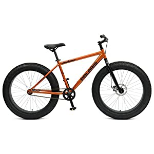 Polaris Wooly Bully Fat Tire Bike, 26X4 inch Wheels, 18.5 inch Frame, Unisex, Orange