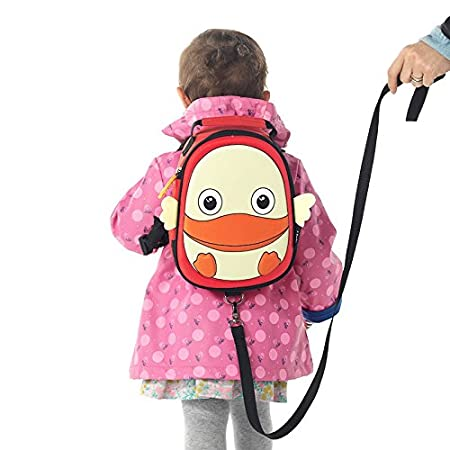 i-baby Baby Harness Backpack with leash Kids School Bag Cute 3D Animal Design Toddler Lunch Box Bag for Boys Girls (Orange Monkey) Shanghai I-Baby Co. Ltd I6300117410