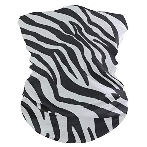 Black And White Striped DeerHeadband Womens Bandana Mens Balaclava,Neck Warmer,Face Mask,Tube Headwrap ()