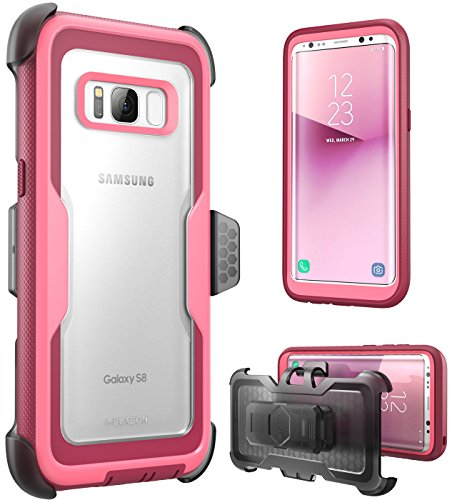 i-Blason Galaxy S8 Case, [Armorbox] [Full Body] [Heavy Duty Protection ] Shock Reduction/Bumper Case Without Screen Protector for Samsung Galaxy S8 2017 Release (Pink)