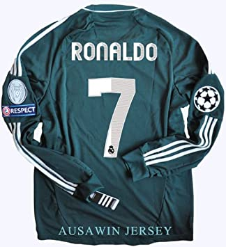 new style fac90 7e4b8 New 12-13 Long Sleeve Real Madrid Third 3rd jersey football ...