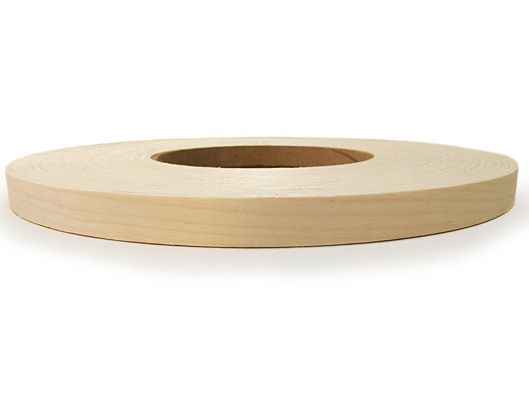 Maple Pre finished Preglued 7/8'' X 250' Wood Veneer Edgebanding. Clear UV Laquer Finish. Made in USA. by Edge Supply