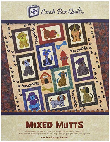 Lunch Box Quilts Mixed Mutts - Patterns Applique Dog