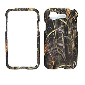 For LG Optimus Zone 2 VS415 / Fuel L34c Camo Grass Case Cover Verizon Hard Case Snap-on Cases Rubberized Touch Protector Shield Faceplates