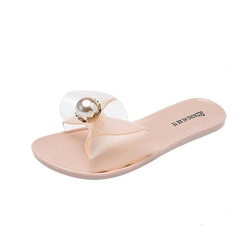 190d0ee9522 RAISINGTOP Flip Flops Jelly for Women Open Toe Flat Heel PVC Sandals  Slippers Beach Shoes Zapatillas