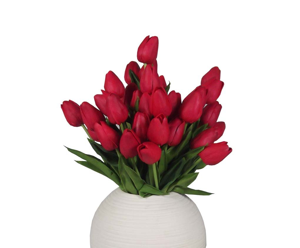 Amazon 10 Heads Home Deocr Mini Tulip Real Touch Tulip