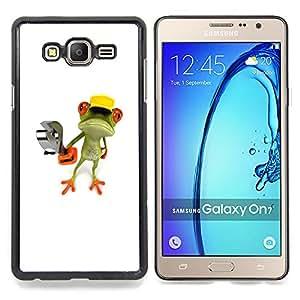 Stuss Case / Funda Carcasa protectora - Construcción Obra Rana Llave Blanca - Samsung Galaxy On7 O7