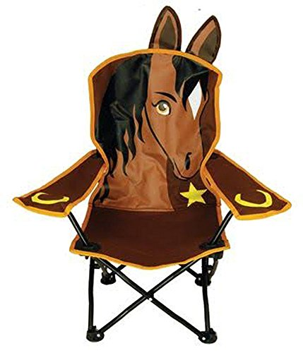 Wilcor Kids Horse Folding Camp Chair with Cup Holder and Carry Bag (Horse Chair)