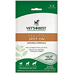 Vet's Best Flea and Tick Spot-On Drops, 0.6 oz