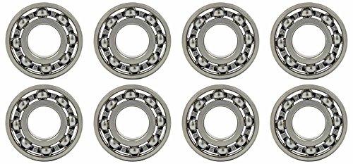 Ball Open Bearings - Eight (8) MR63 3x6x2mm Open Precision Ball Bearings