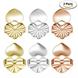 #3: Earring Lifters - 3 Pairs of Adjustable Hypoallergenic Earring Lifts - Safety Locking Stud Earring Backs As Seen on TV
