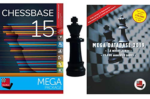 Price comparison product image ChessBase 15 - Mega Package: ChessBase 15 Chess Database Management Software Program bundled with Mega Database 2019 & ChessCentral's Chess King Flash Drive