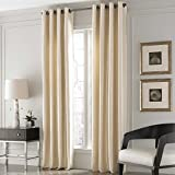 Solid 108-Inch Window Curtain Panel in Sand by Valeron