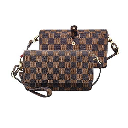 Women Crossbody Wallets Leather Wristelt Small Purses Handbags With RFID Card Slots Gift Box
