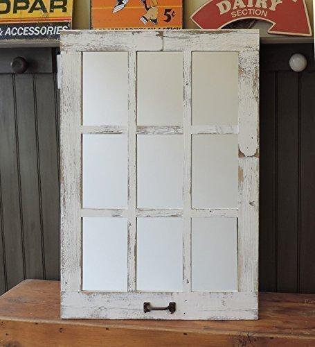 Barn Window Pane Mirror Homesteader Style--23.5-inch X 33.25-inch (Window 6 Mirror Pane)
