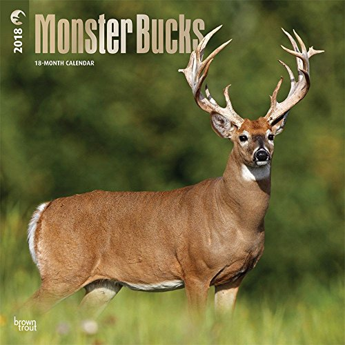 Monster Bucks 2018 12 x 12 Inch Monthly Square Wall Calendar with...