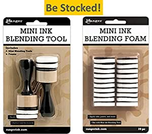 Mini Ink Blending Tool-1 Round (Mini Ink Blending Tool With Replacement Foams)
