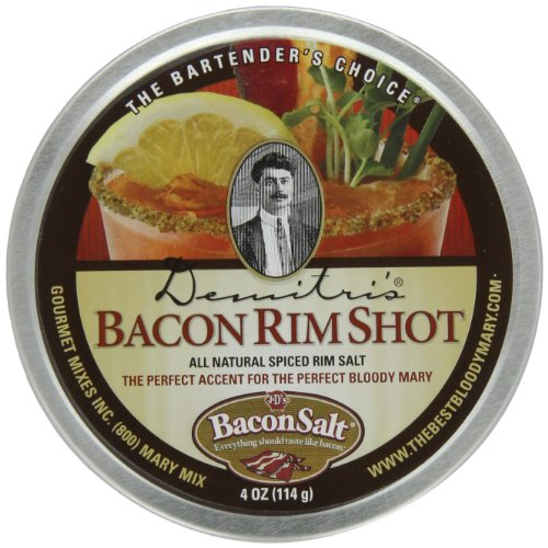 Demitri's Bacon RimShot, Spiced Rim Salt, 4 Ounce Tin (Salt Bacon Flavored)