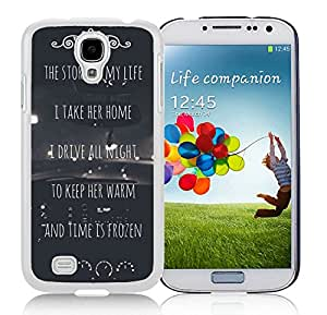 Fashionable Samsung Galaxy S4 Case Design with One Direction Harry Styles Niall Horan Story Of My Life Lyrics Car in White