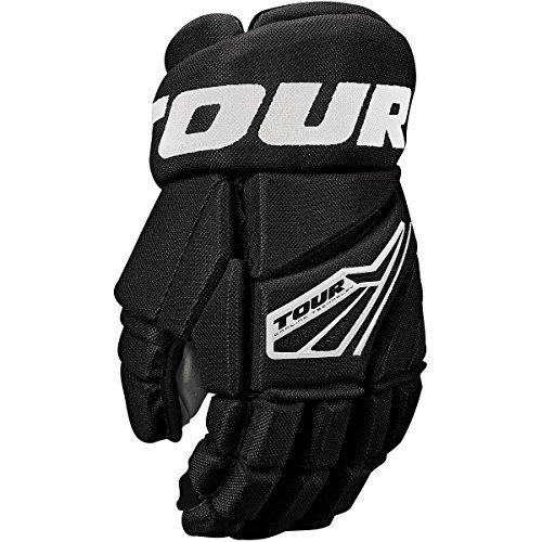 Hockey In Line Gloves (Tour HOCKEY CODE 3 INLINE HOCKEY GLOVES BLACK/WHITE 15 INCH)