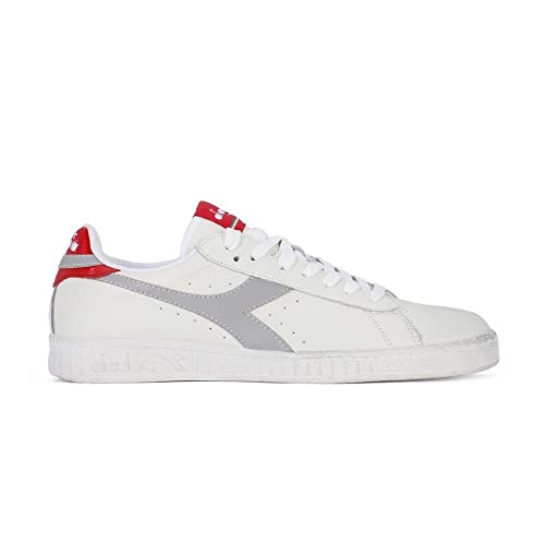 Diadora Game L Low Waxed, Sneaker Uomo, Bianco (Bianco Grigio Paloma), 40 EU