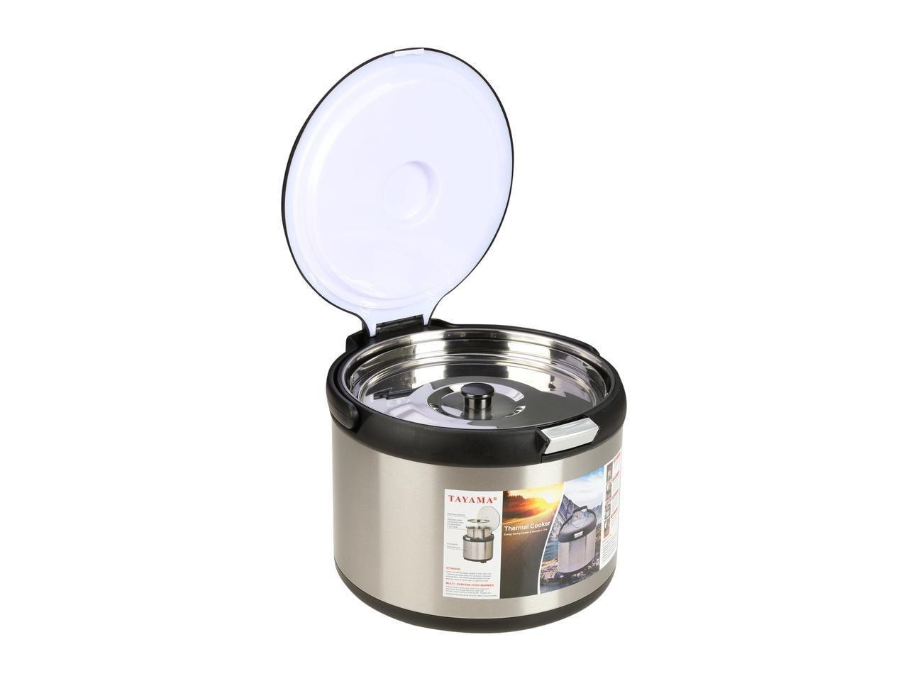 Tayama TXM-50CF Energy-Saving Thermal Cooker, 5 L, Black by TAYAMA (Image #6)