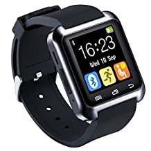 U80 Smart Watch Bluetooth 4.0 for Sports & Health Anti-lost Wrist Wrap Watch Phone Mate for Smartphones IOS Android Apple iphone 5/5C/5S/6/6 Puls (Black)