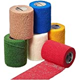 3M Health Care 2081C Self-Adherent Wrap with Hand Tear, Latex Free, 1'' x 5 yd. Size, Assorted Colors (Pack of 30)