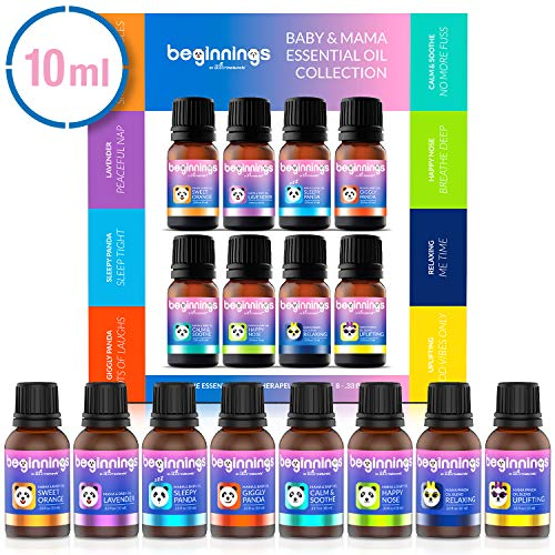 ArtNaturals Baby & Mama Essential Oils Set - (.33 Fl Oz / 10ml) - 8 Therapeutic-Grade and Baby-Safe Oil Blends Gentle for Boys, Girls and Kids of all Ages - for Aromatherapy Diffuser
