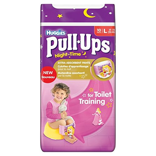 Grand Huggies Pull-Ups couches Nuit Fille 10 par paquet