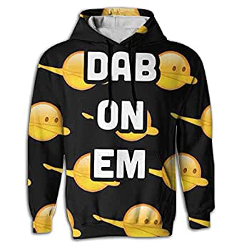 Dabbing Dance Men's Novelty Fit Long Sleeve Hoodie Tie Dye For University Sweatshirt