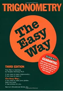 Calculus the easy way douglas downing 9780812025880 amazon books trigonometry the easy way easy way series fandeluxe Choice Image