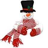 Gift Boutique Christmas Snowman Head Tree Topper Hugger Hat Scarf Poseable Arms Porch Outdoor Indoor Home Holiday Party Supplies Decorations