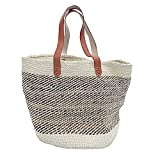 Kiondo Basket Bag - Natural & Banana Stem   Long Strap Medium - 14''