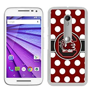 Unique Motorola Moto G 3rd Skin Case ,Southeastern Conference SEC Football South Carolina Gamecocks 01 white Moto G 3rd Gen Cover Fashionable And Durable Designed Phone Case