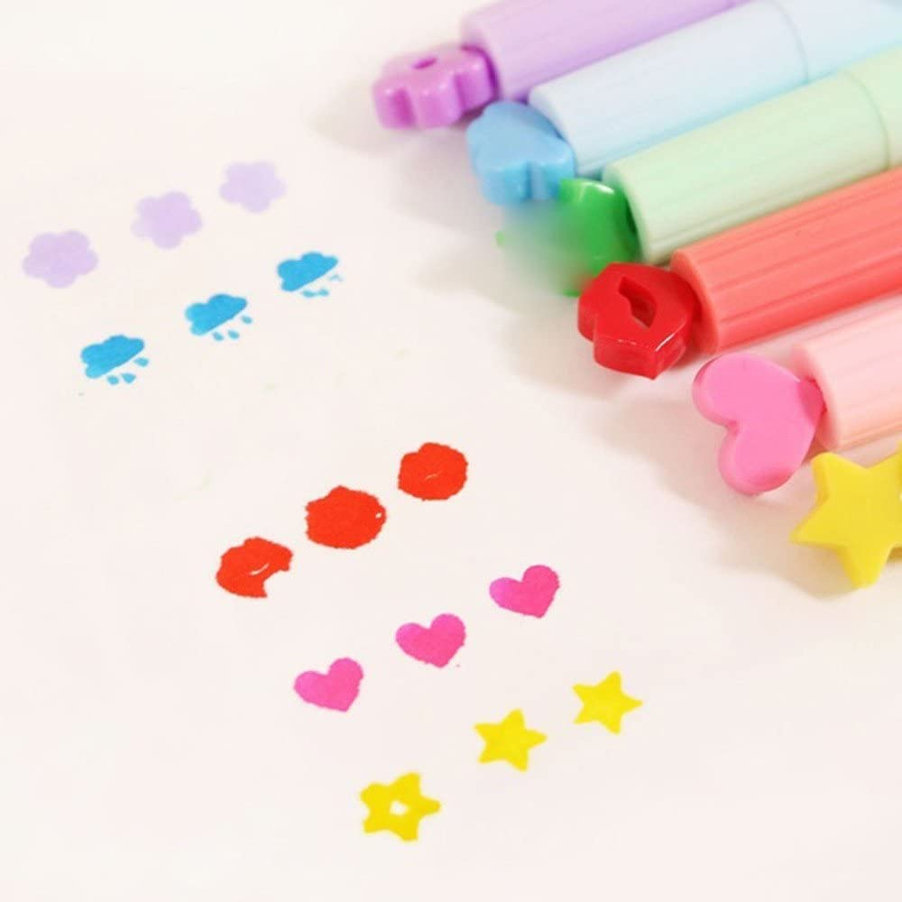 Glumes 3pcs Colors Kids Coloring Markers Stamp Markers for Kids Non-Toxic Washable Coloring Markers Pens for Beginners Students Or Professionals Adults
