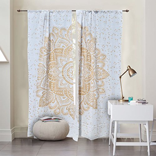 Indian Ombre Mandala Window Door Cover Curtain Hanging Drape Portiere