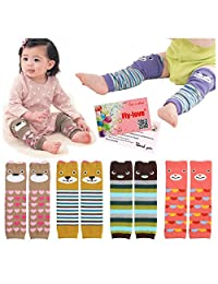 6pairs Baby Leg Sleeve Warmers Sock Crawling Safety Protector Baby Knee Pads