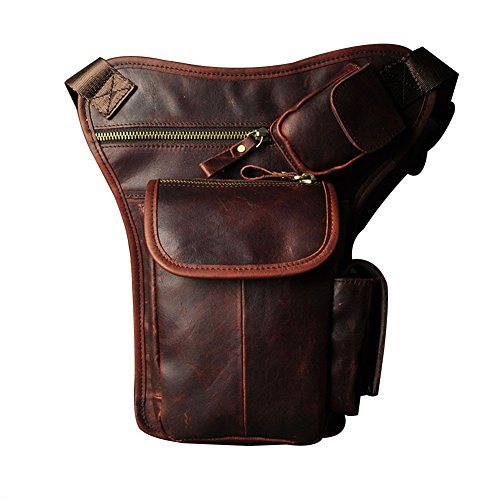 Amazon.com: Genda 2Archer Leather Leg Bag Outdoor Thigh Pack ...