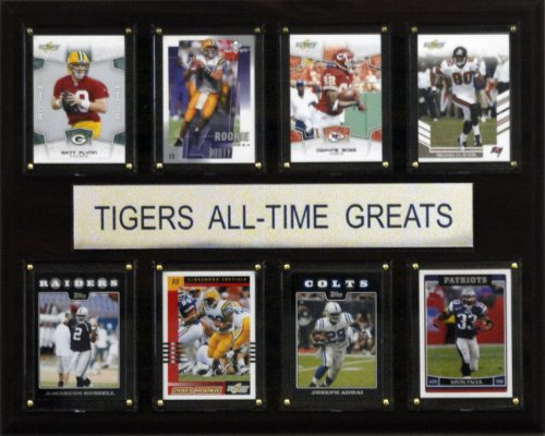 Tigers Personalized Football - NCAA Football LSU Tigers All-Time Greats Plaque