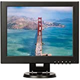TPEKKA 12 Inch 4:3/16:9 Square Monitor TFT LCD Portable Security Monitor Display with HDMI BNC VGA AV Input 800x600 Video DVR FPV Monitor for PC TV DVD Computer Screen CCTV Cam Car System Home Office