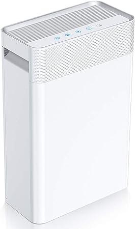 Oferta amazon: Purificador de Aire con Filtro HEPA e Ionizador, Carbón Activado, 45 m² Purificador de Aire Modo de Reposo Silencioso, con Filtración de 4 Capas, 3 Modos de Temporizador para Alergia/Apartamento/Fumar